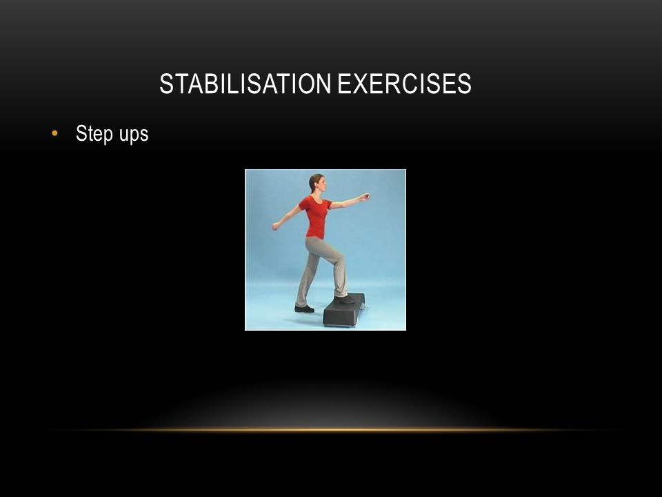 STABILISATION EXERCISES Step ups
