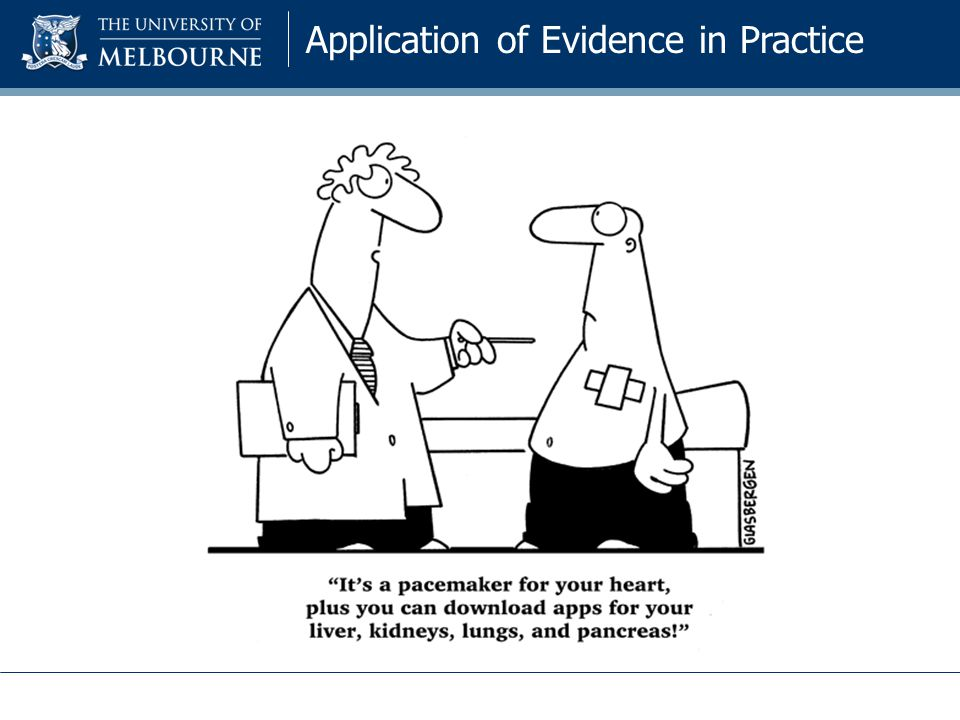Application of Evidence in Practice