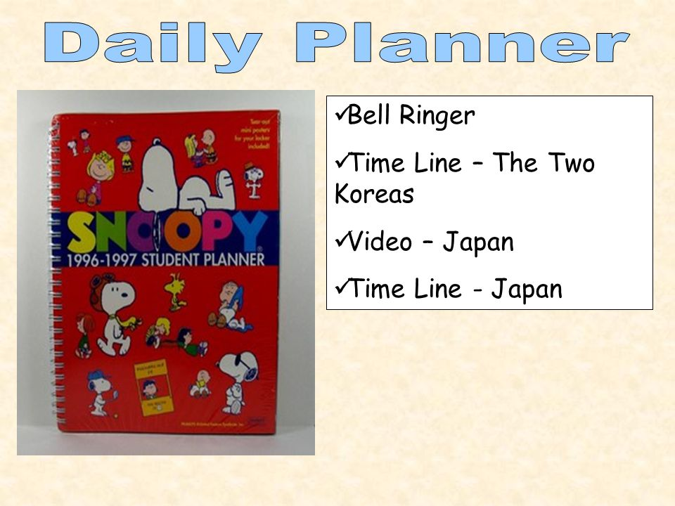 Bell Ringer Time Line – The Two Koreas Video – Japan Time Line - Japan