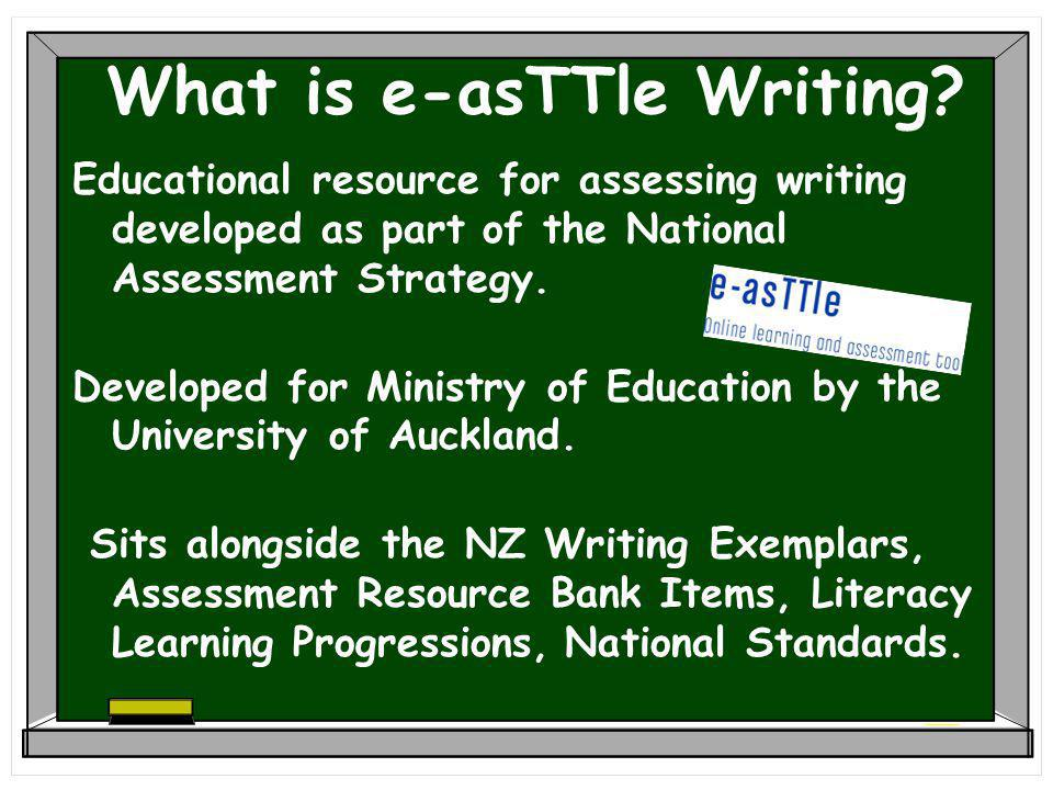 What is e-asTTle Writing.
