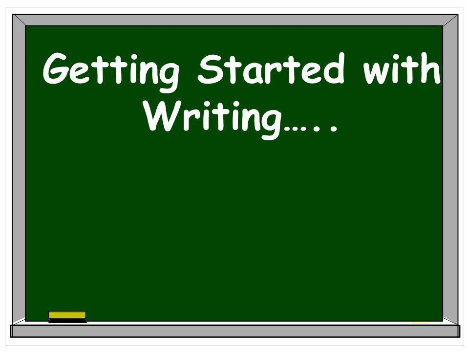 Getting Started with Writing…..