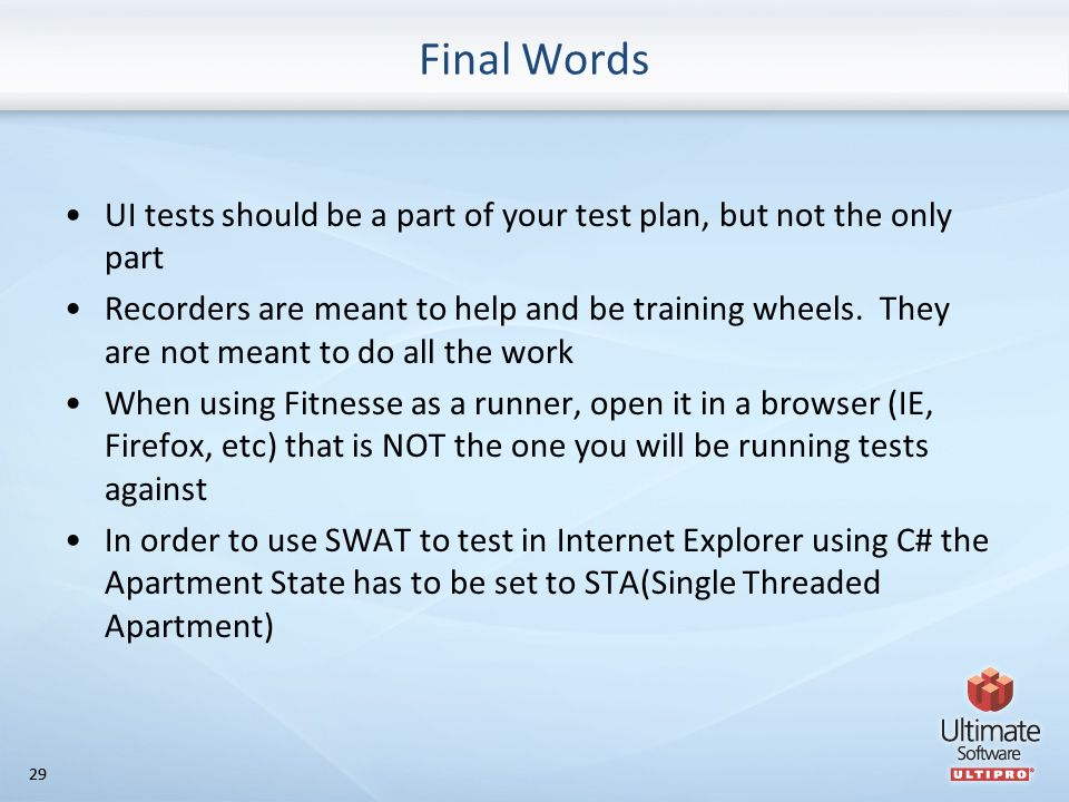 11 Introduction to UI testing with SWAT 2/12/ ppt download