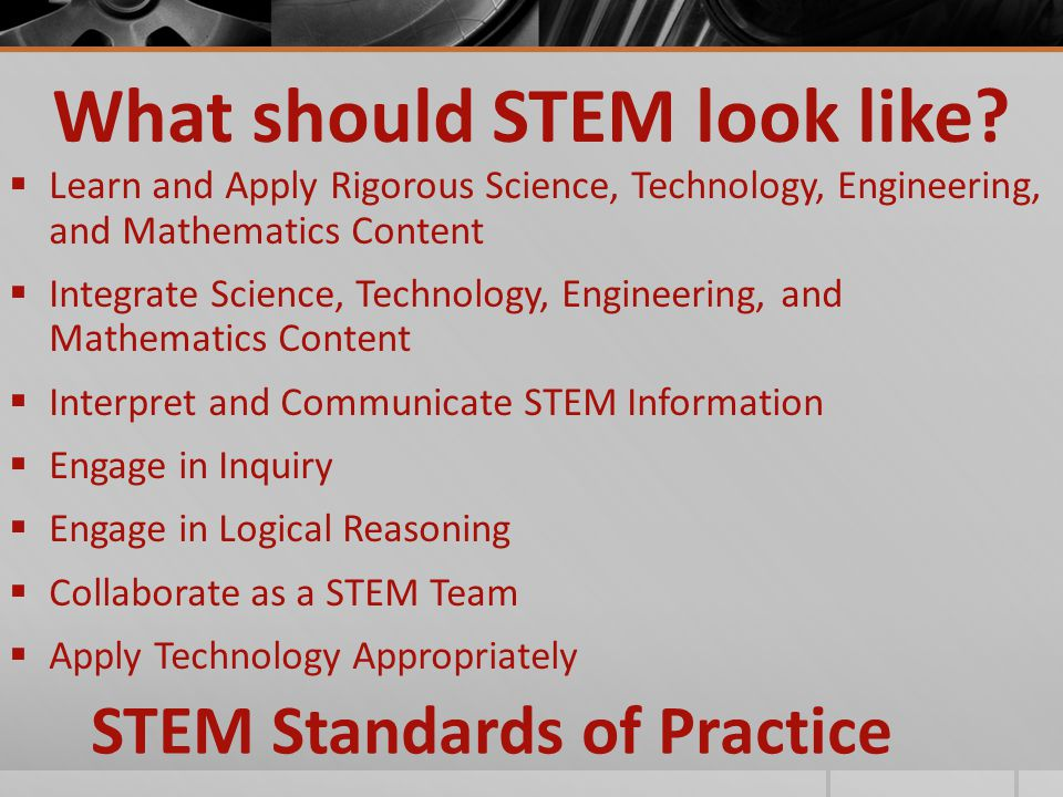 What should STEM look like.