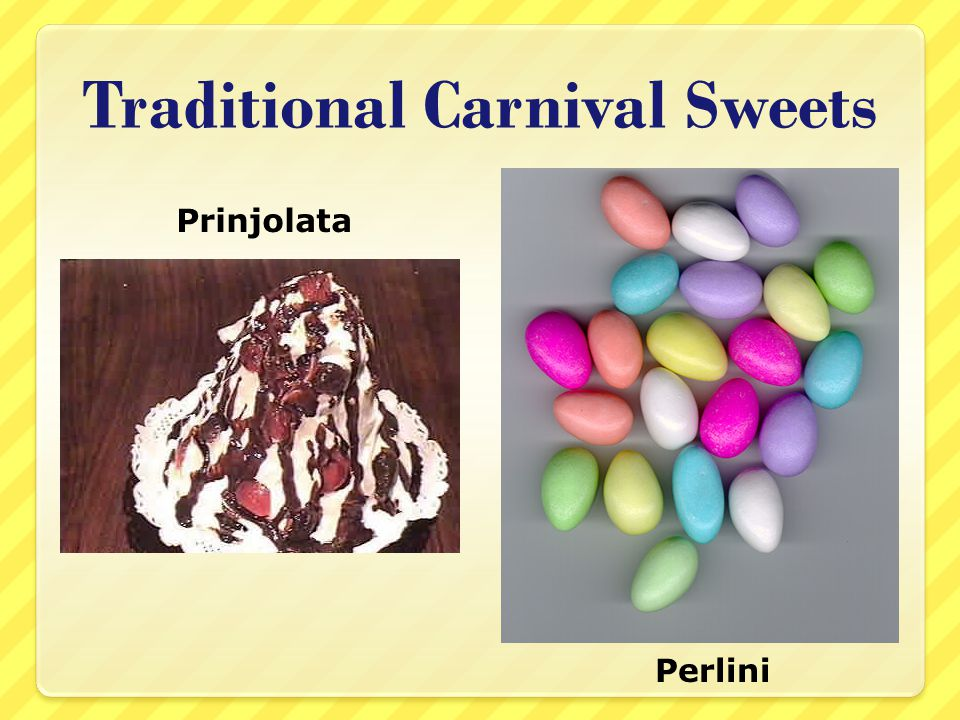 Traditional Carnival Sweets Prinjolata Perlini