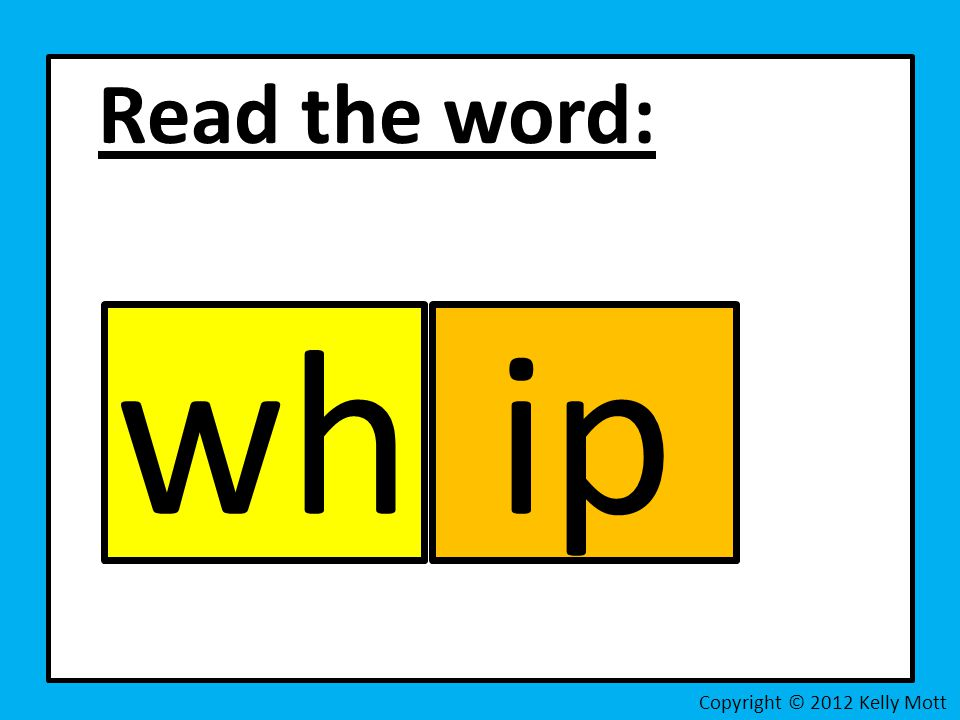 Read the word: Copyright © 2012 Kelly Mott whip
