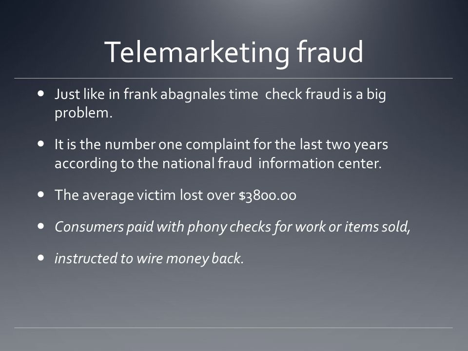 While there are many legitimate companies that use the telephone for marketing, consumers and business lose millions of dollars to telemarketing fraud each year.