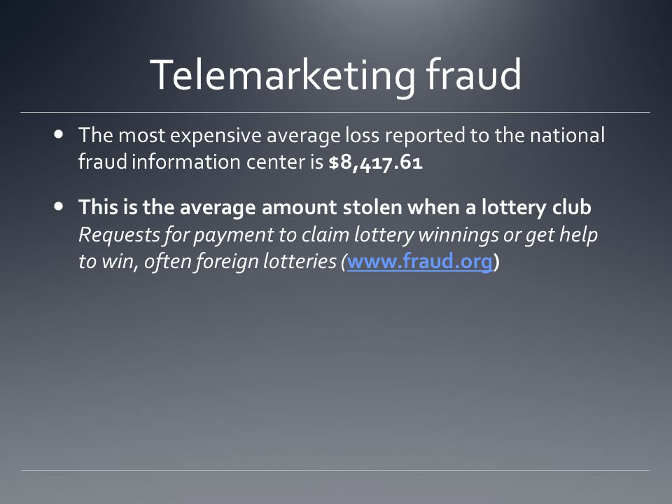 Telemarketing fraud Just like in frank abagnales time check fraud is a big problem.