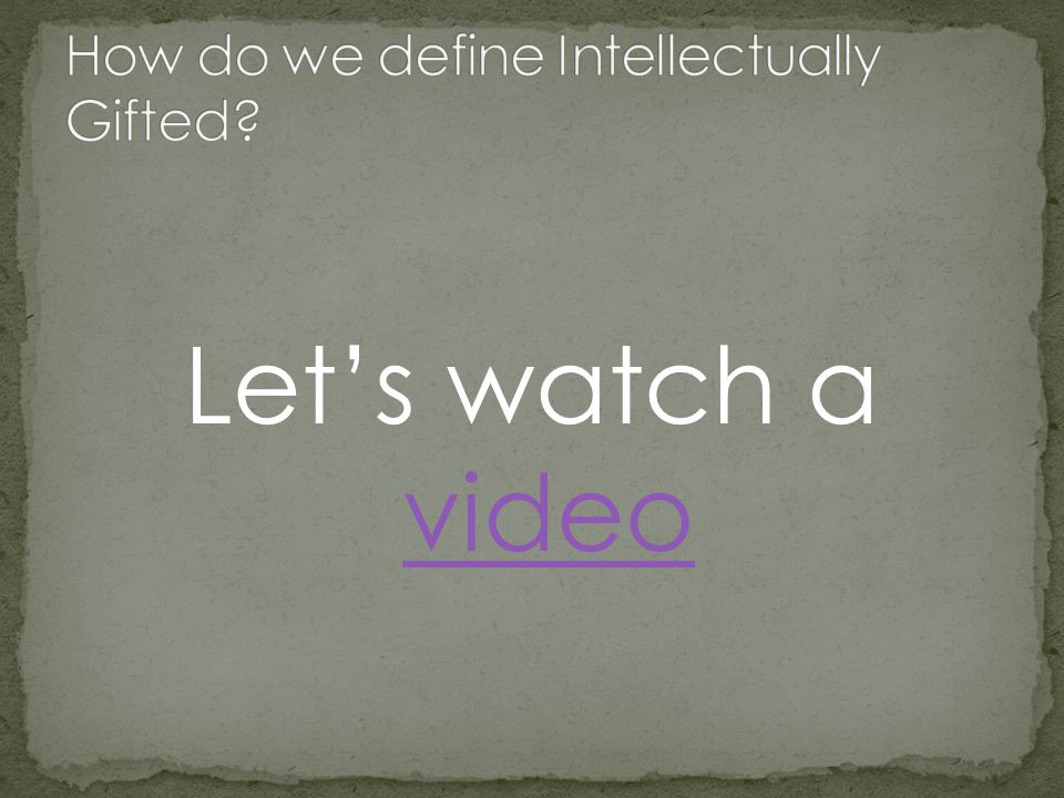 Let's watch a video video