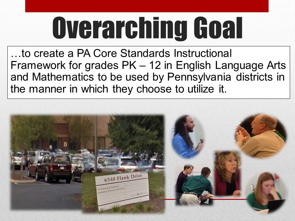 Overarching Goal Copyright ©2013 Commonwealth of Pennsylvania 42 …to create a PA Core Standards Instructional Framework for grades PK – 12 in English Language Arts and Mathematics to be used by Pennsylvania districts in the manner in which they choose to utilize it.