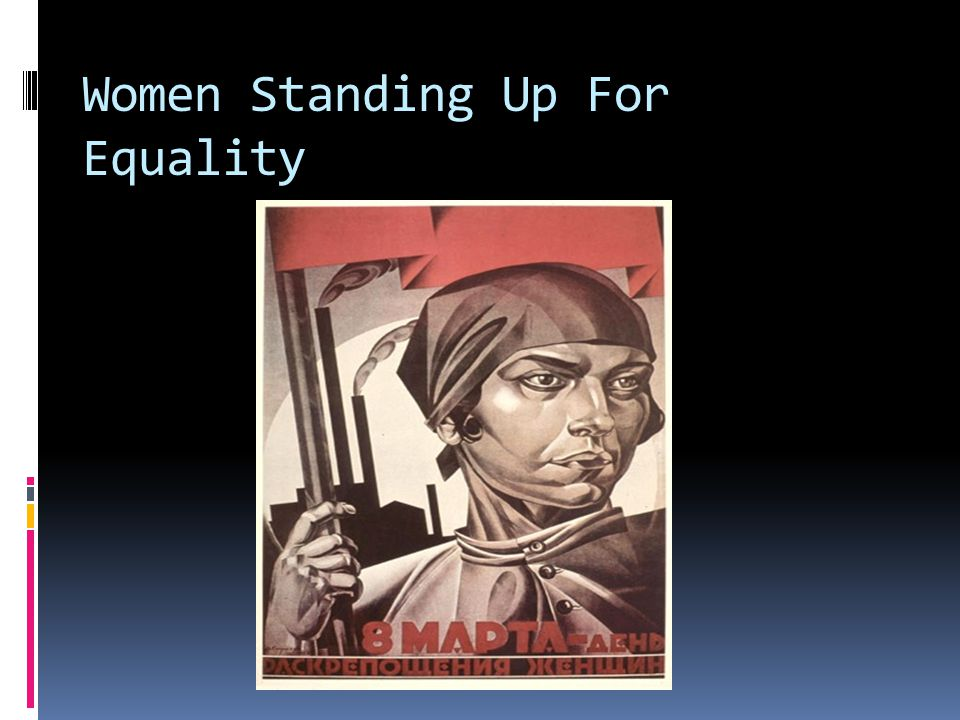 Women Standing Up For Equality