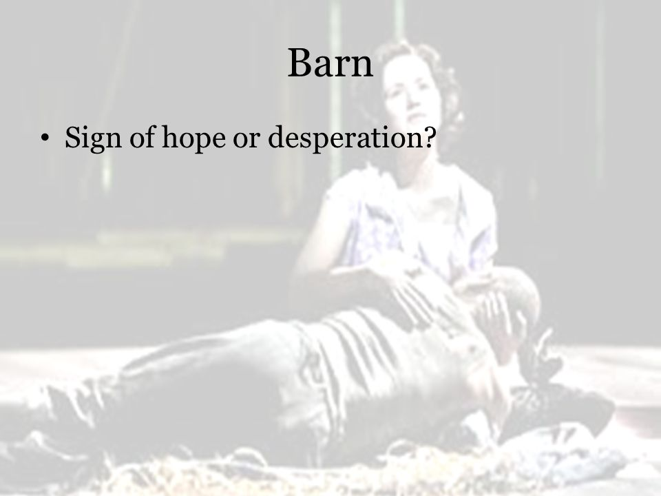Barn Sign of hope or desperation