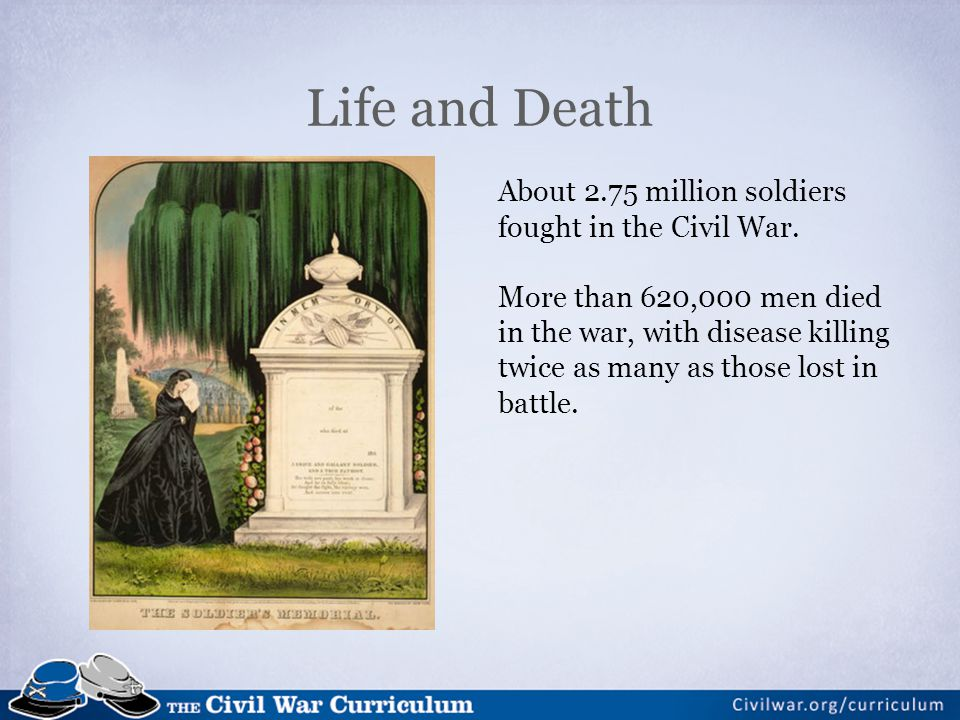 About 2.75 million soldiers fought in the Civil War.