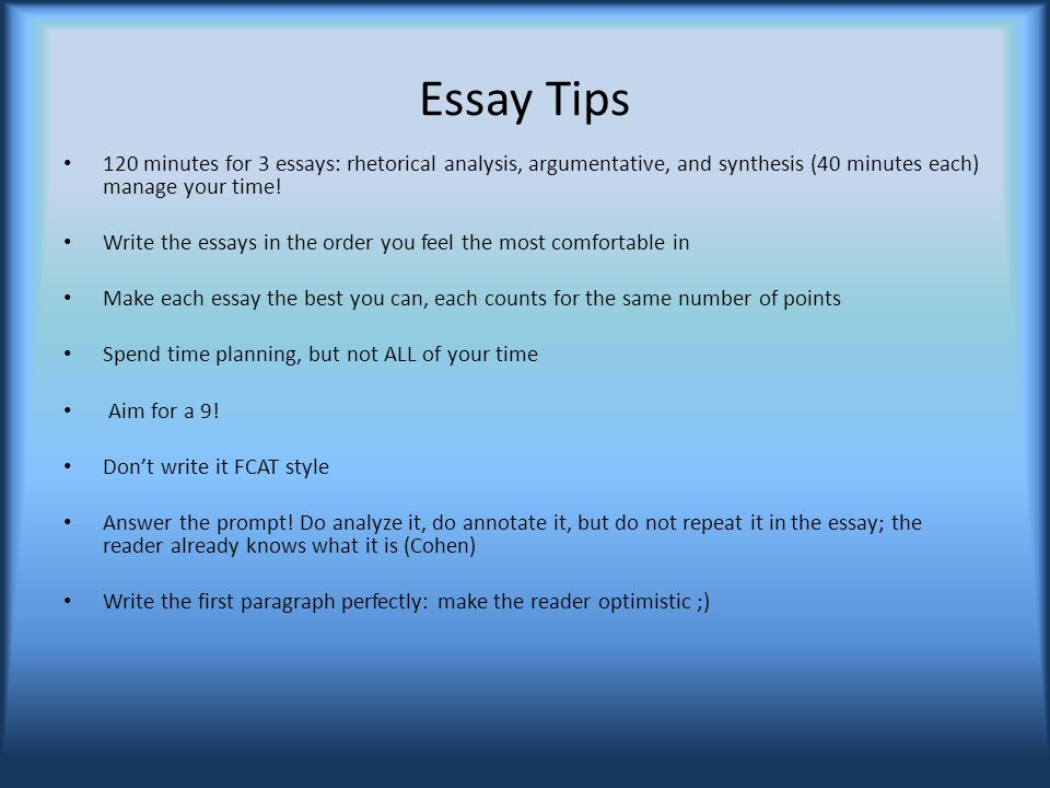 What To Remember For The Ap English Language And Composition Exam   Essay Tips