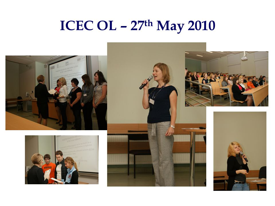 ICEC OL – 27 th May 2010
