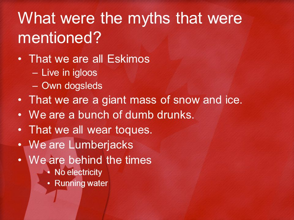 What were the myths that were mentioned.