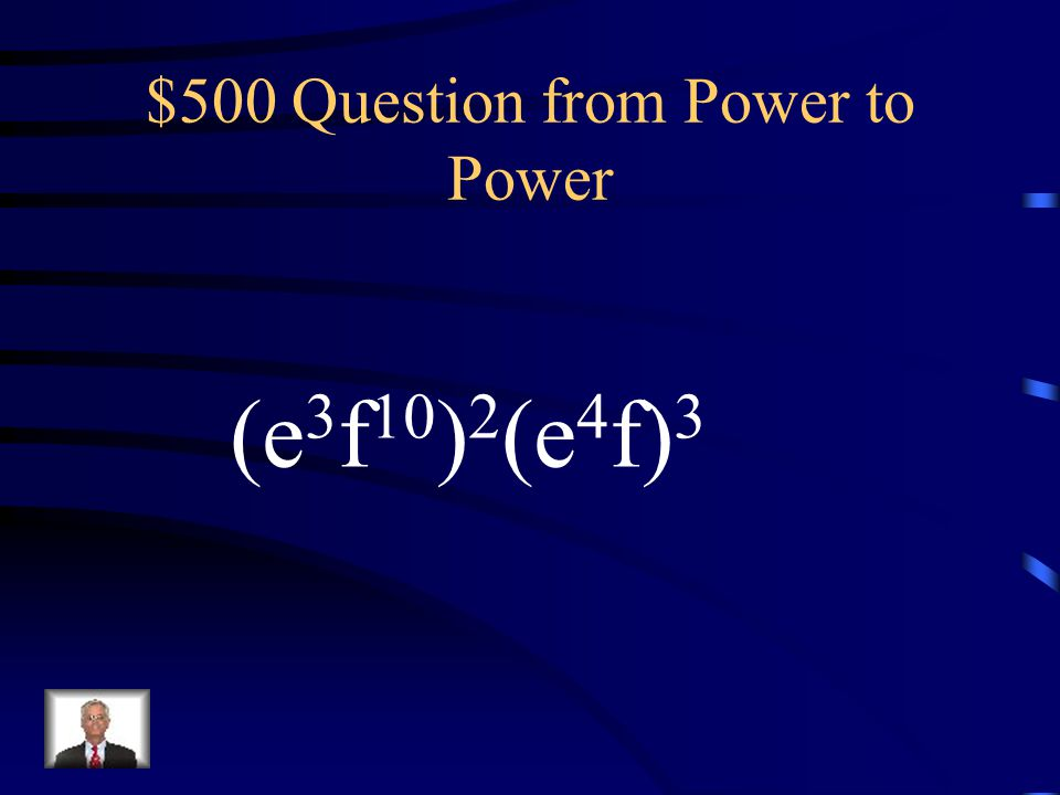 $400 Answer from Power to Power x 26 y 12