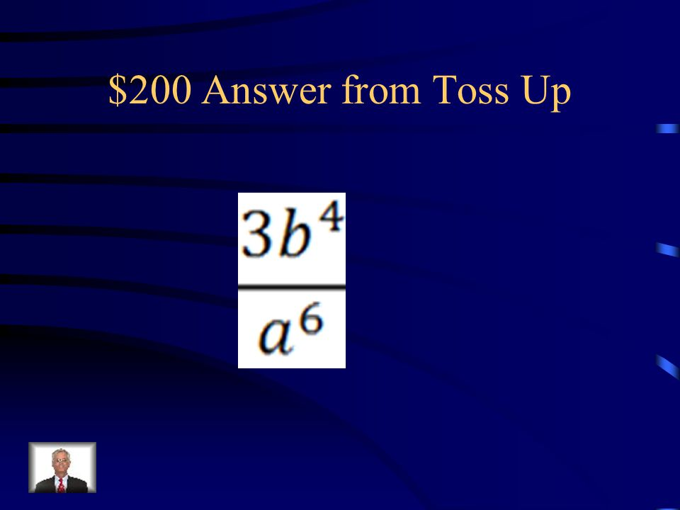 $200 Question from Toss Up