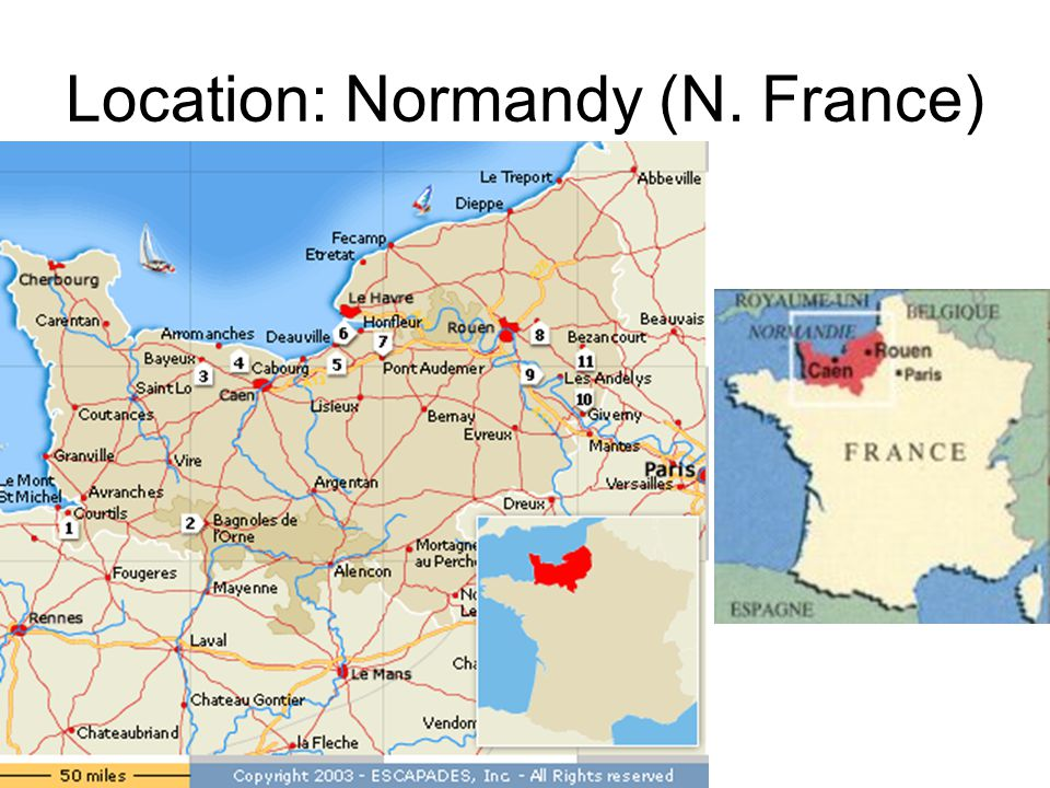 Location: Normandy (N. France)