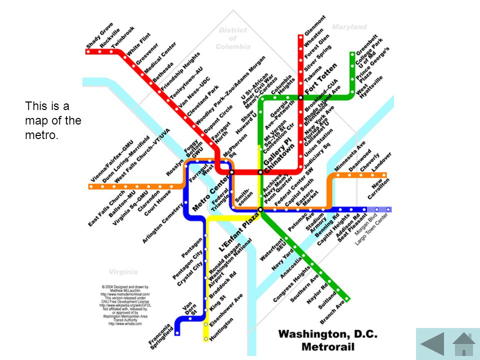 This is a map of the metro.