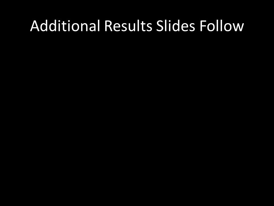 Additional Results Slides Follow