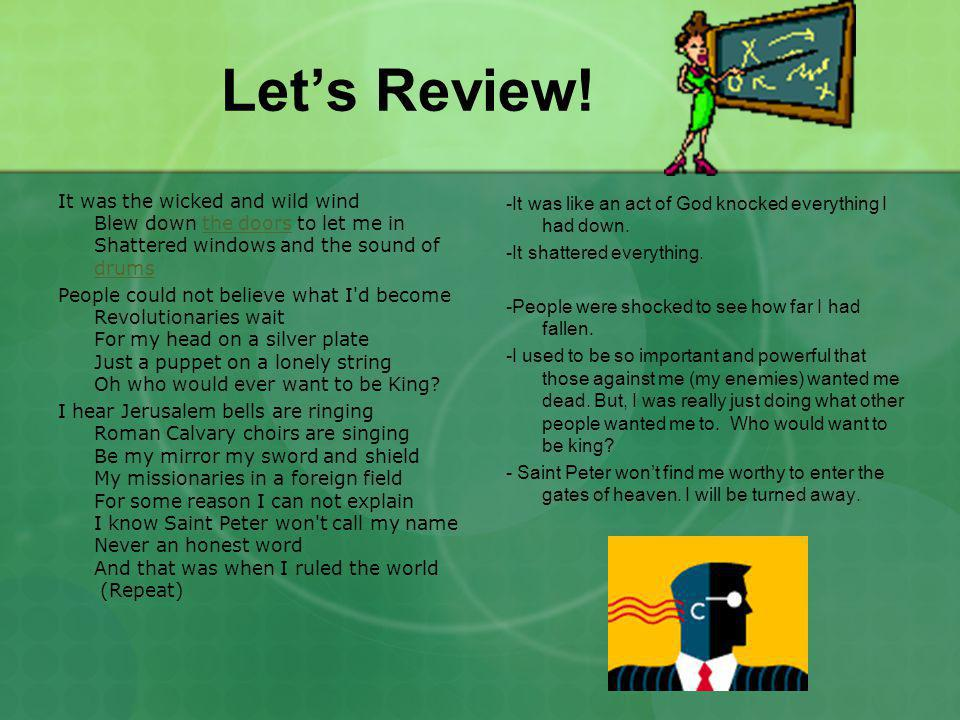 Let's review!.