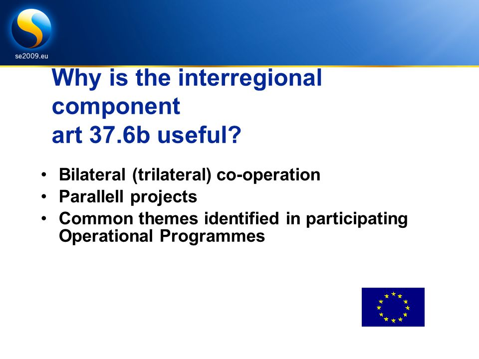 Why is the interregional component art 37.6b useful.