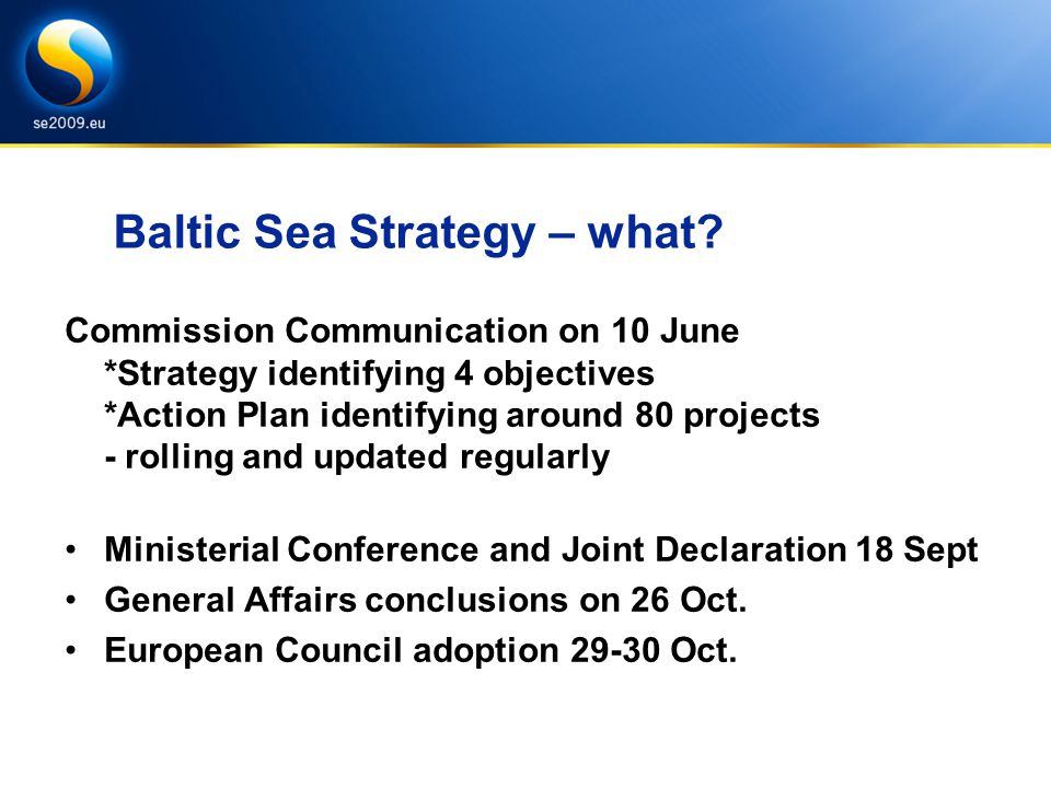 Baltic Sea Strategy – what.