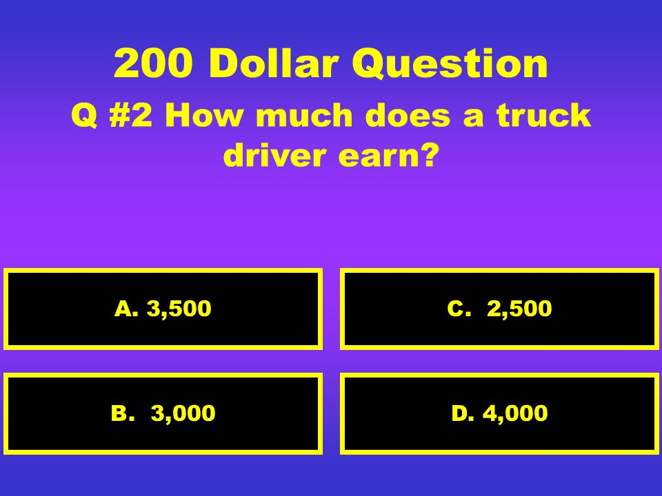 100 Dollar Question Q#1 What is the dole. A. A service to get food D.
