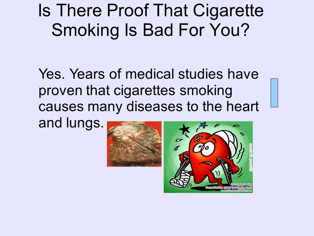 Is There Proof That Cigarette Smoking Is Bad For You.