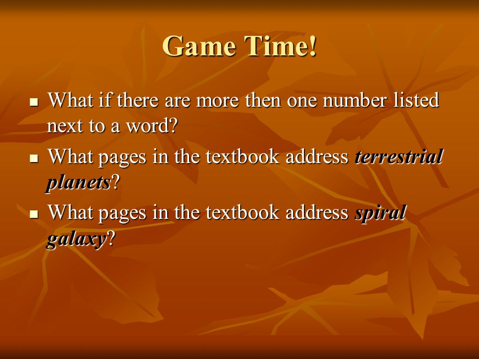 Game Time. What if there are more then one number listed next to a word.