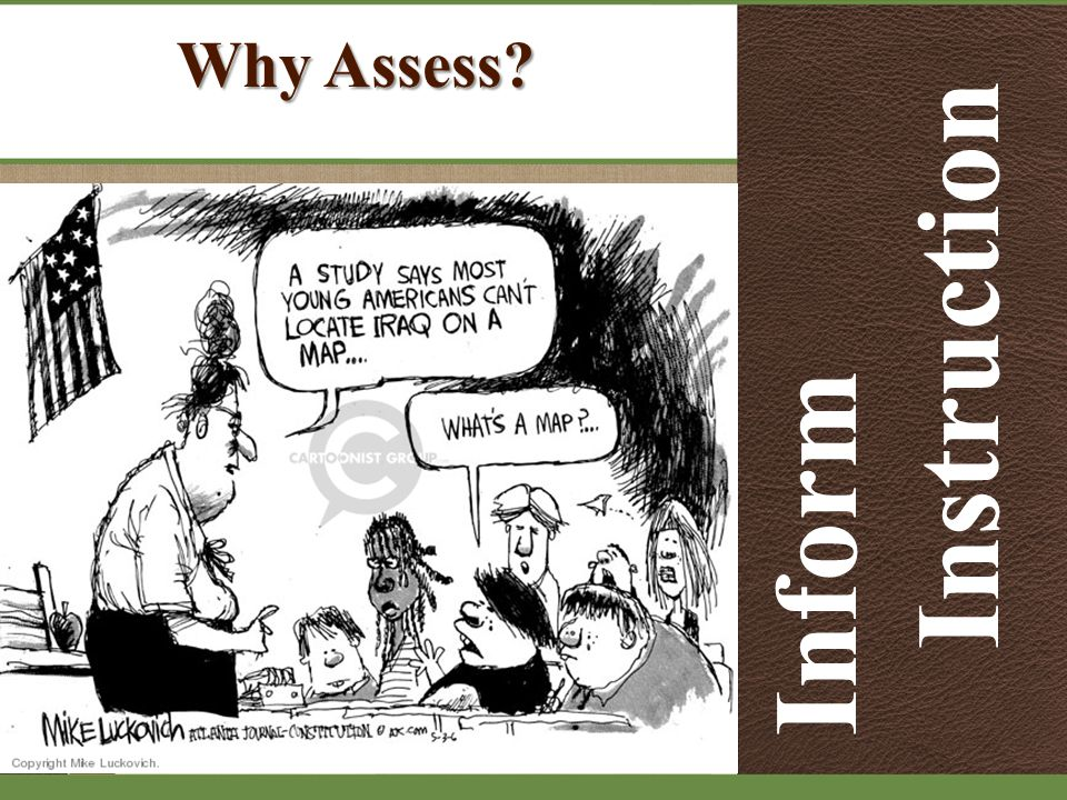 Why Assess Inform Instruction