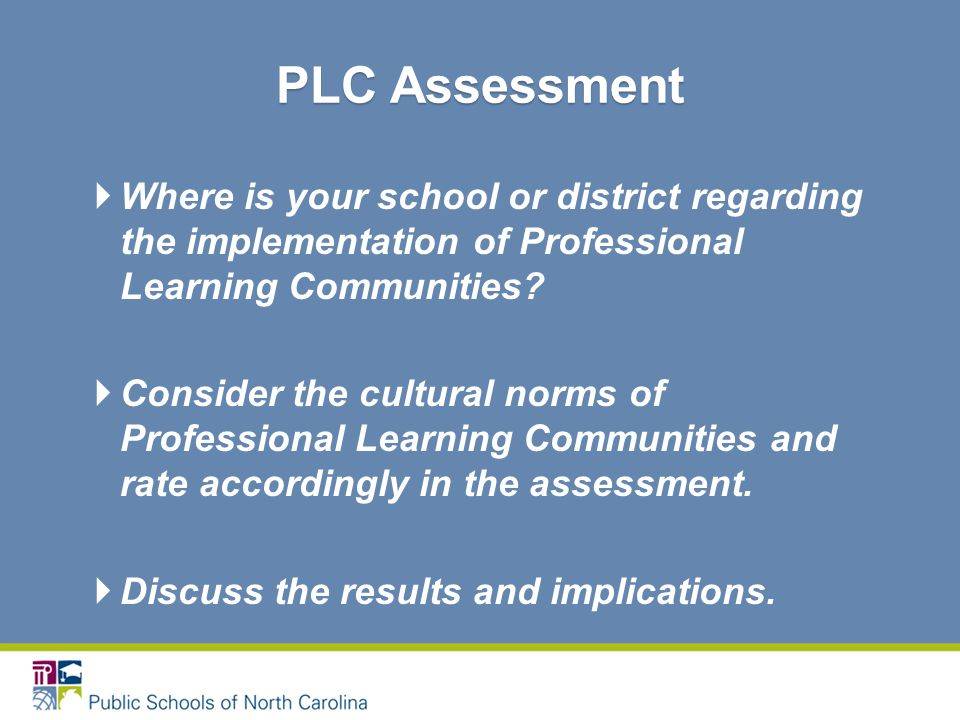  Where is your school or district regarding the implementation of Professional Learning Communities.