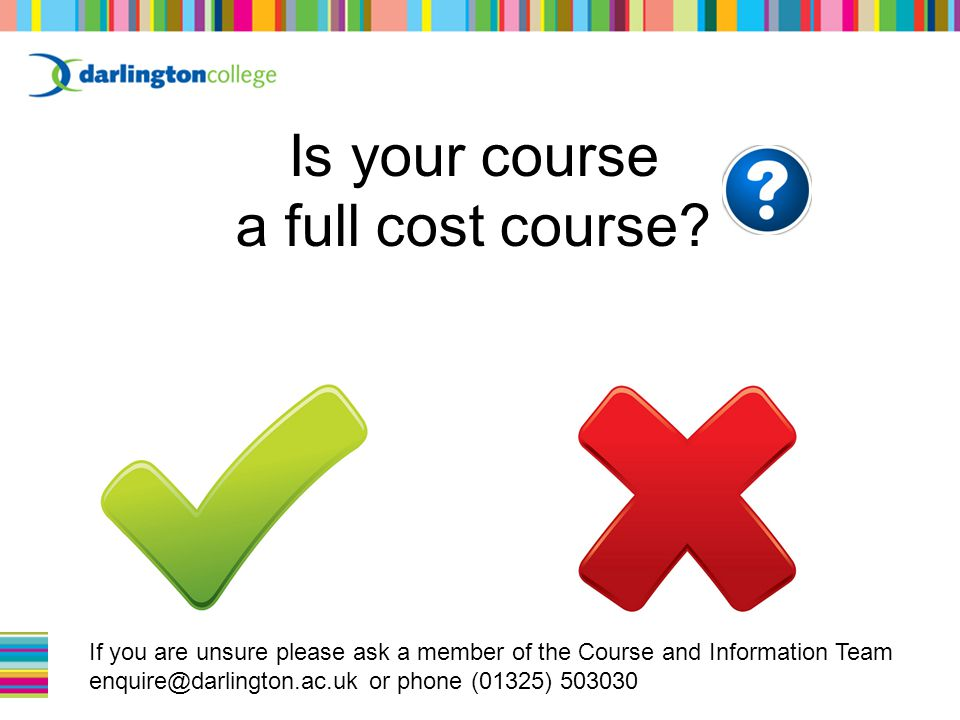 Is your course a full cost course.