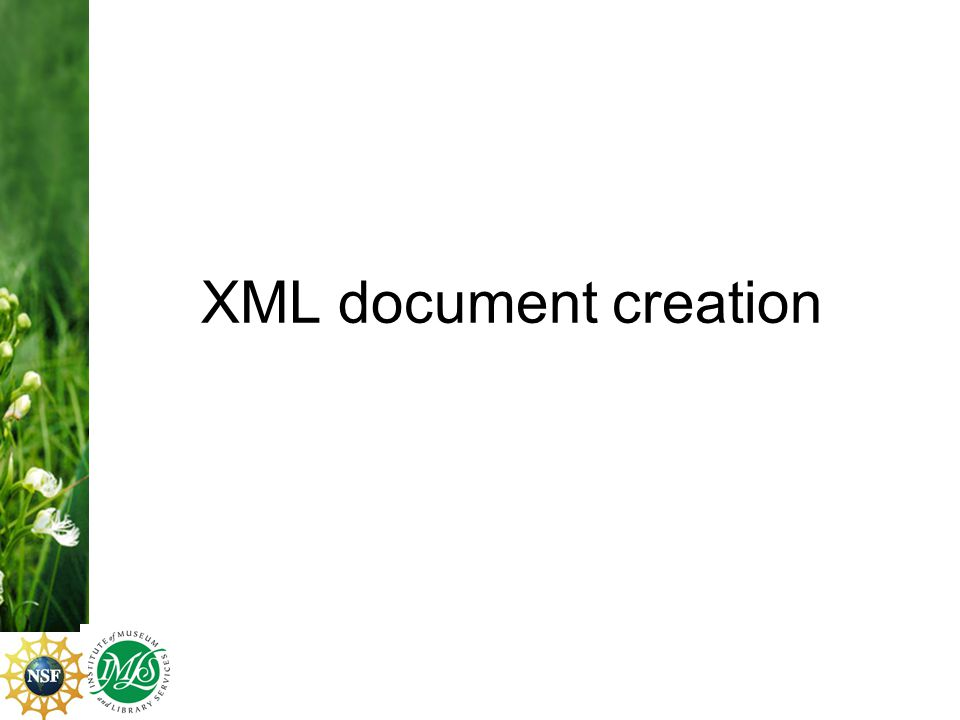 XML document creation