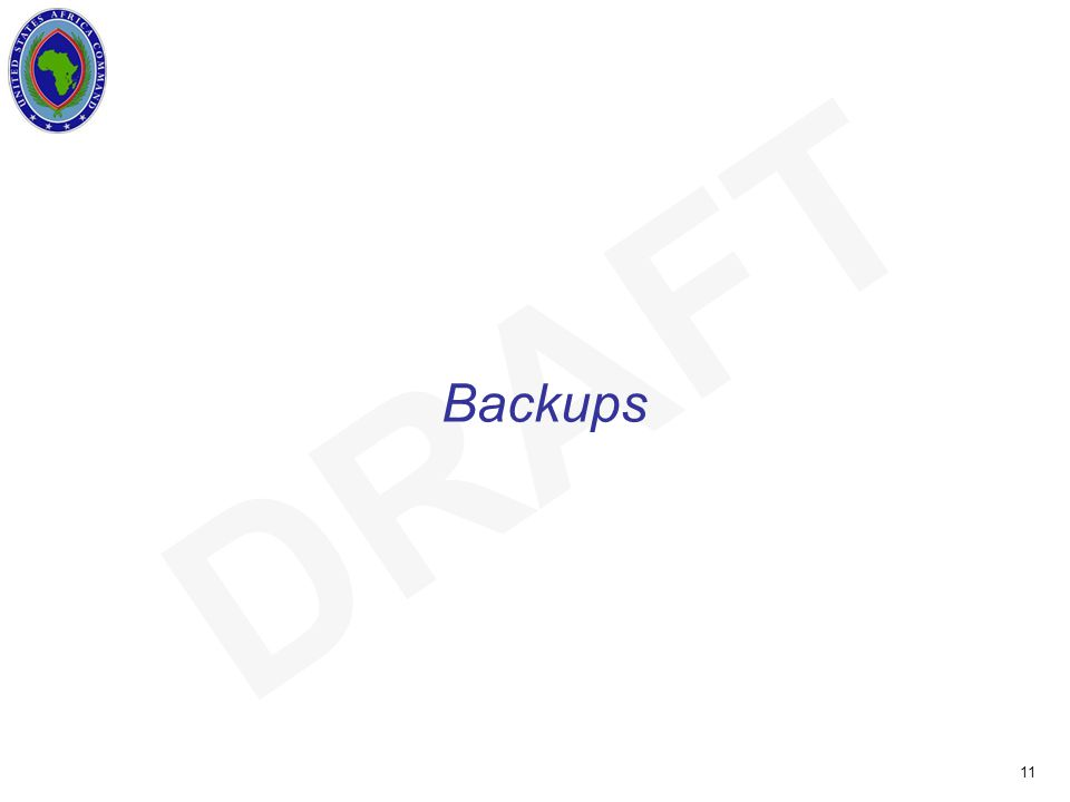 UNCLASSIFIED 11 DRAFT Backups