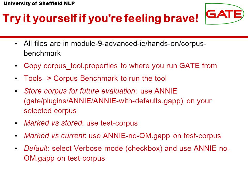 University of Sheffield NLP Try it yourself if you re feeling brave.