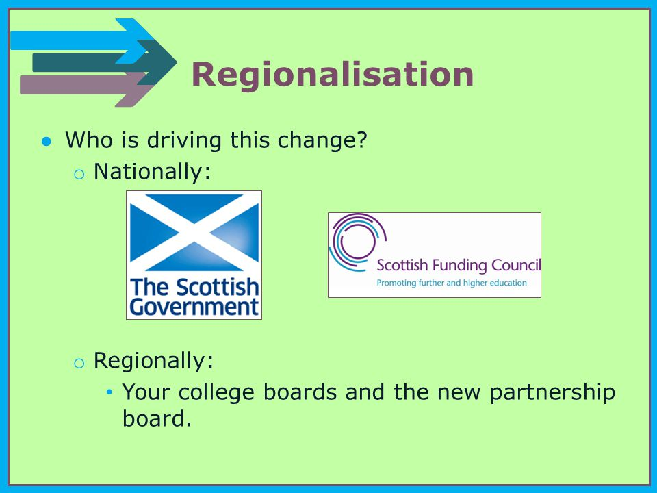 Regionalisation ●Who is driving this change.