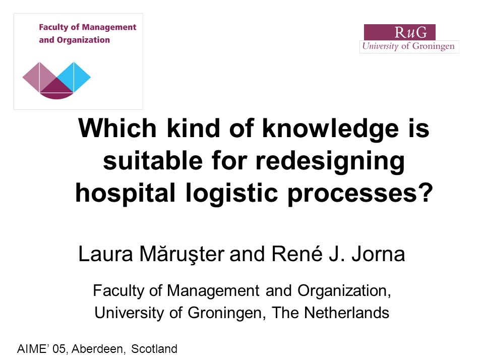 Which kind of knowledge is suitable for redesigning hospital logistic processes.