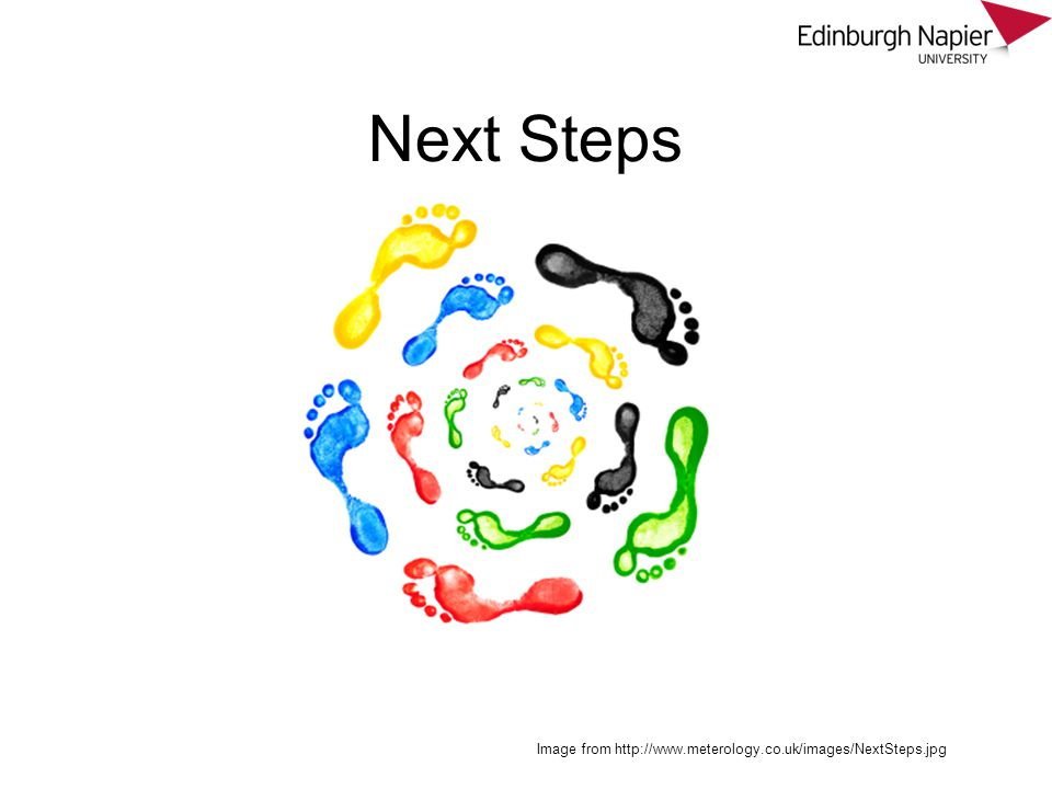 Next Steps Image from http://www.meterology.co.uk/images/NextSteps.jpg