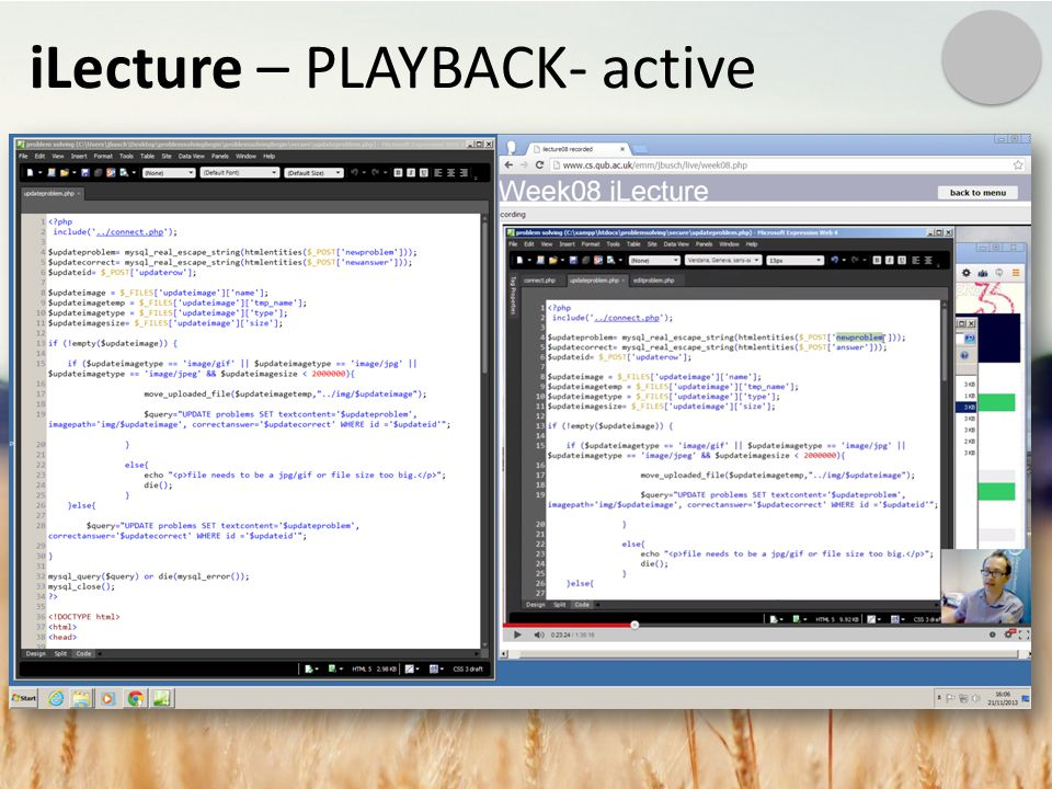 iLecture – PLAYBACK- active
