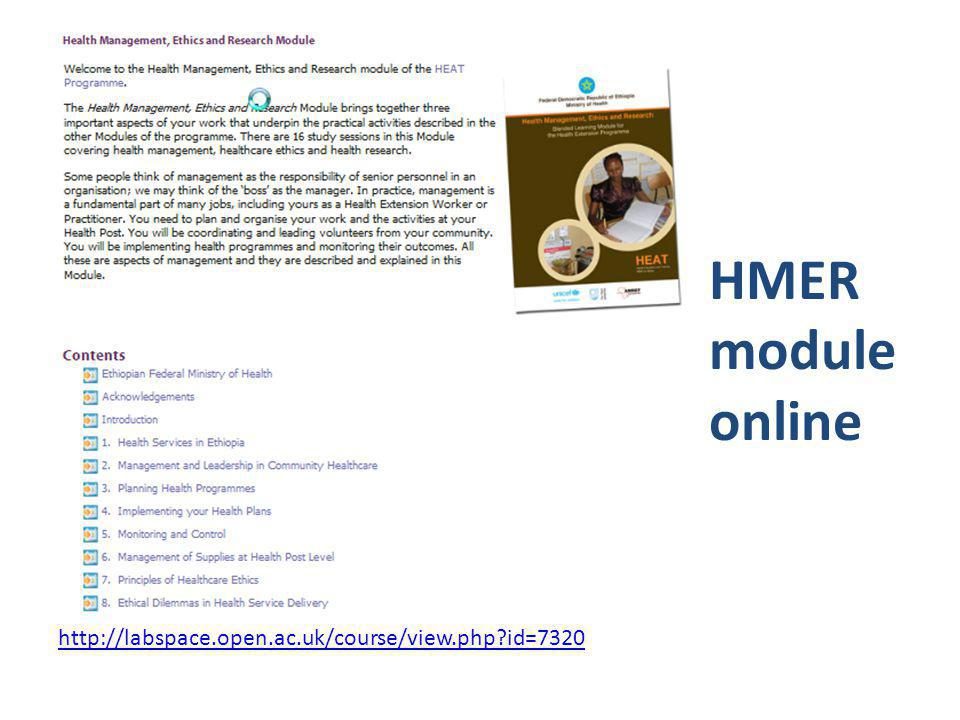 HMER module online http://labspace.open.ac.uk/course/view.php id=7320