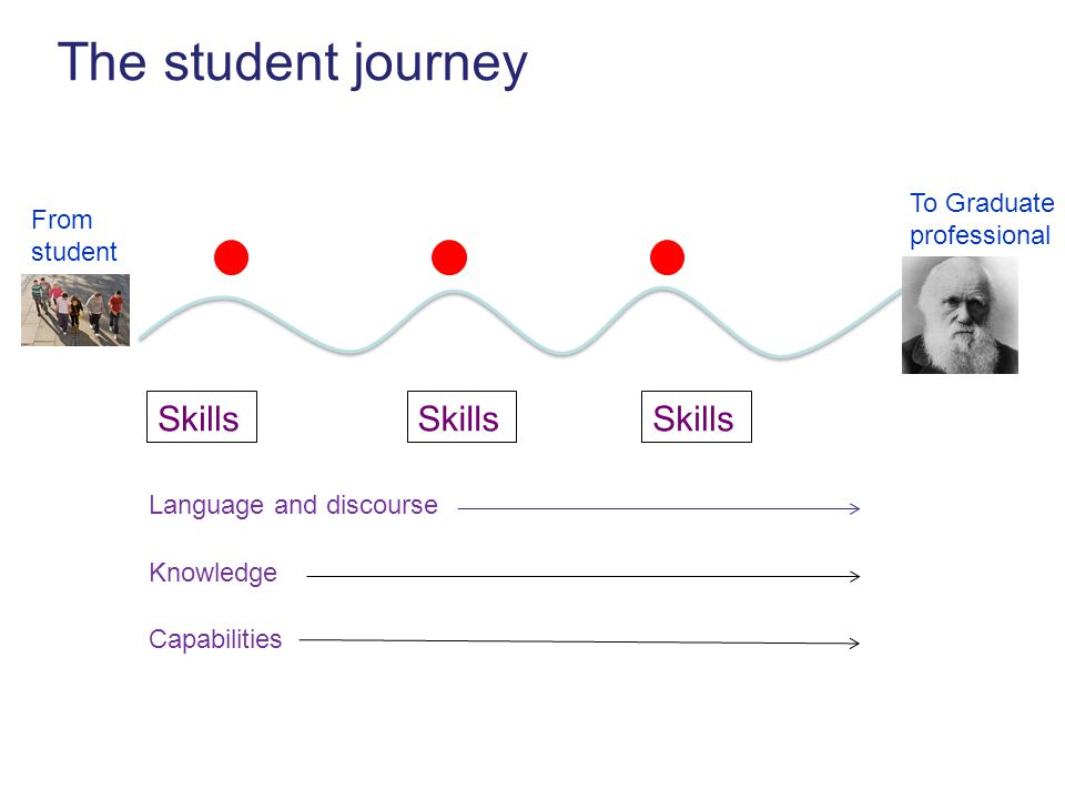 Language and discourse The student journey To Graduate professional From student Skills Capabilities Knowledge