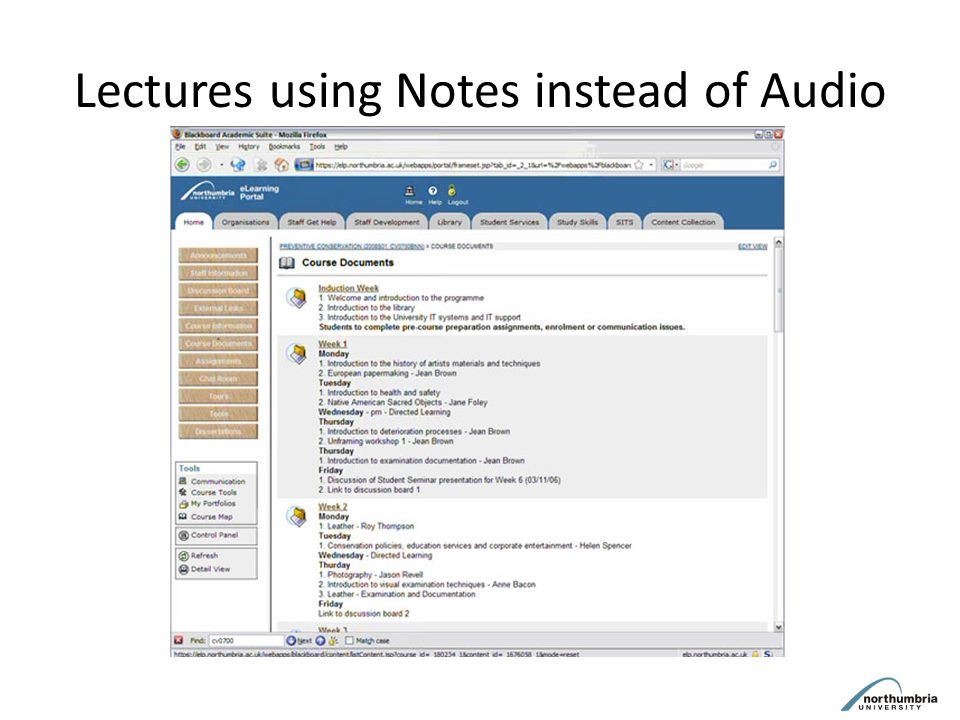 Lectures using Notes instead of Audio