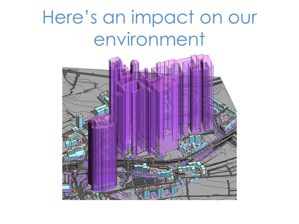 Here's an impact on our environment