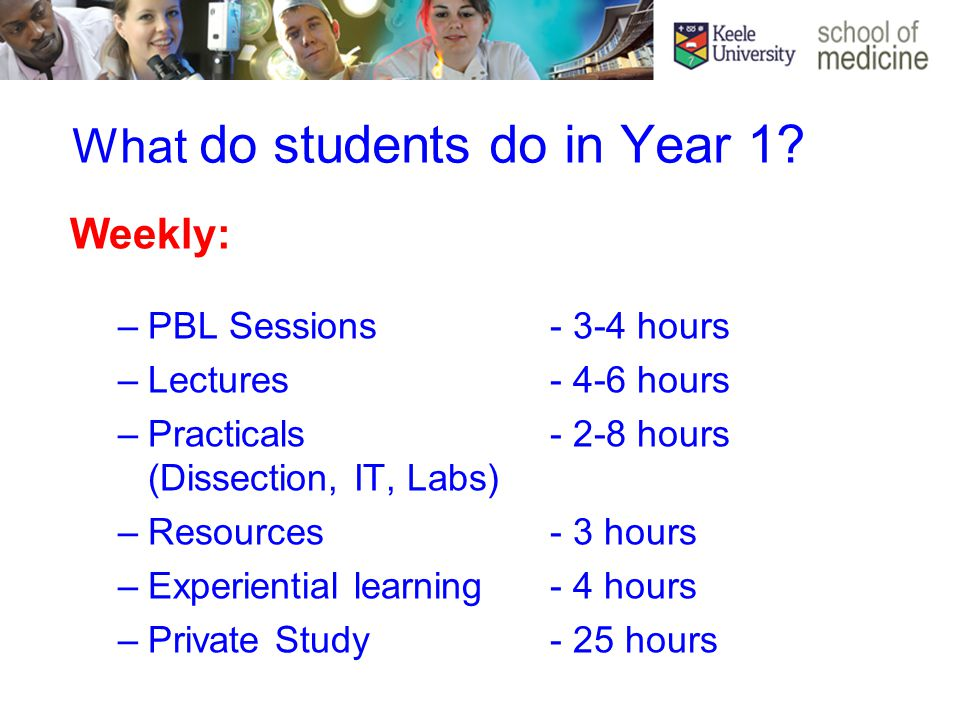 What do students do in Year 1.