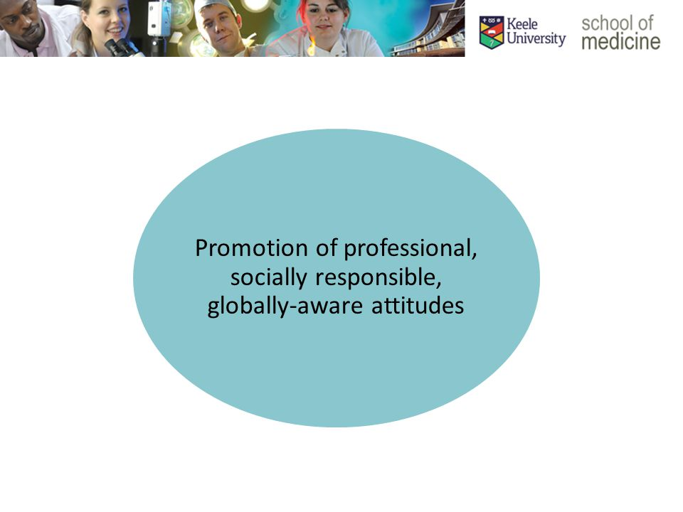 Promotion of professional, socially responsible, globally-aware attitudes