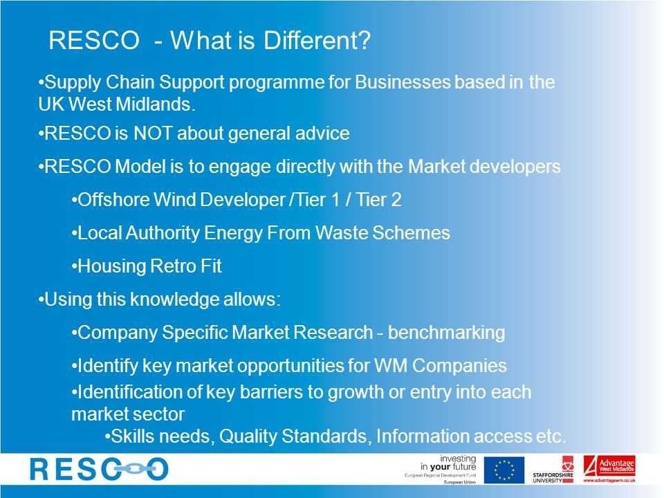 RESCO - What is Different.