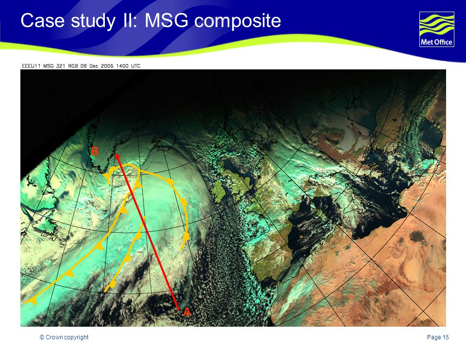Page 15© Crown copyright Case study II: MSG composite A B