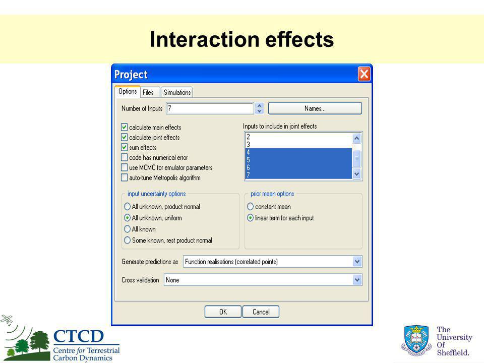 Interaction effects
