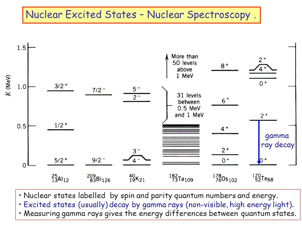 Nuclear Excited States – Nuclear Spectroscopy.